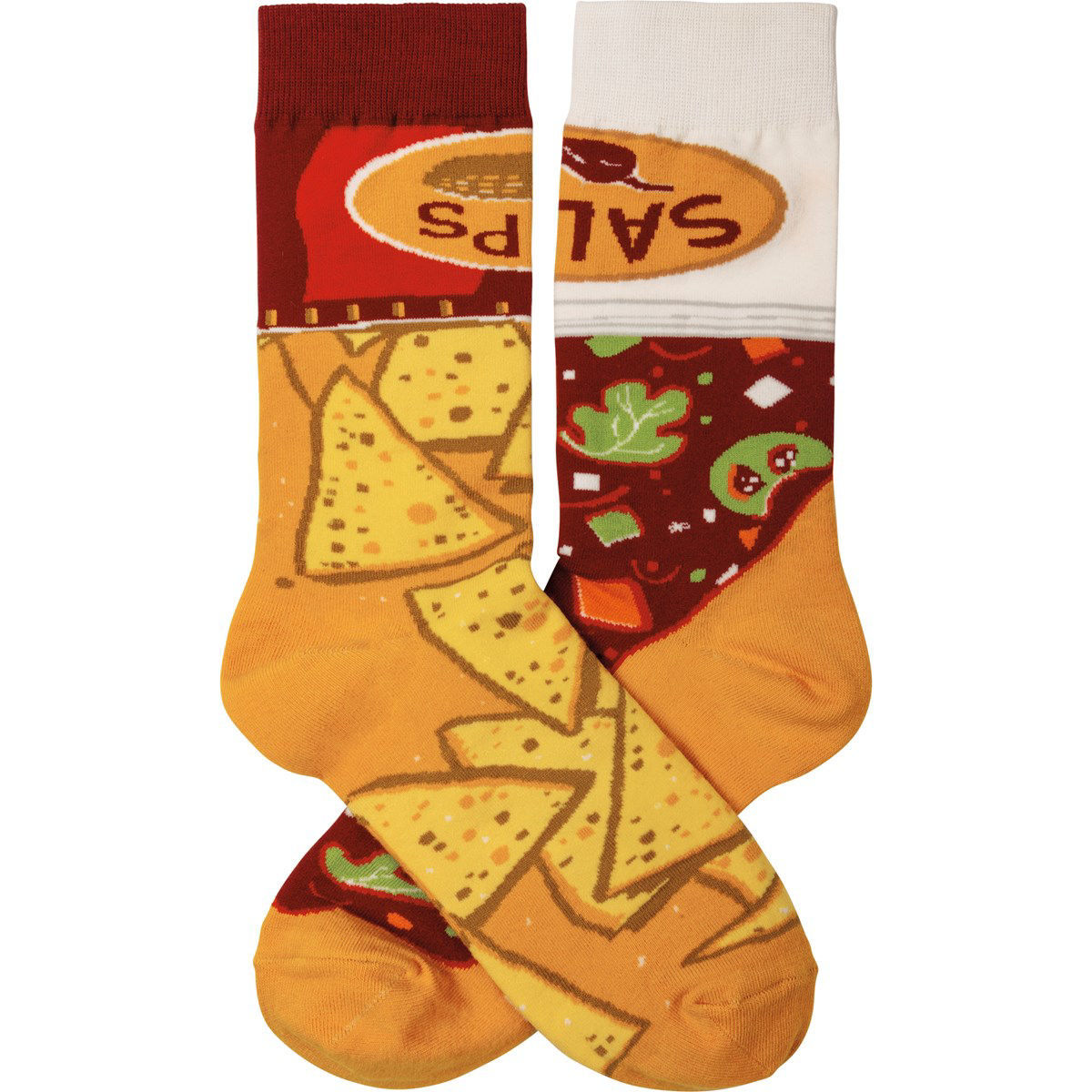 Chips & Salsa Socks by Primitives by Kathy