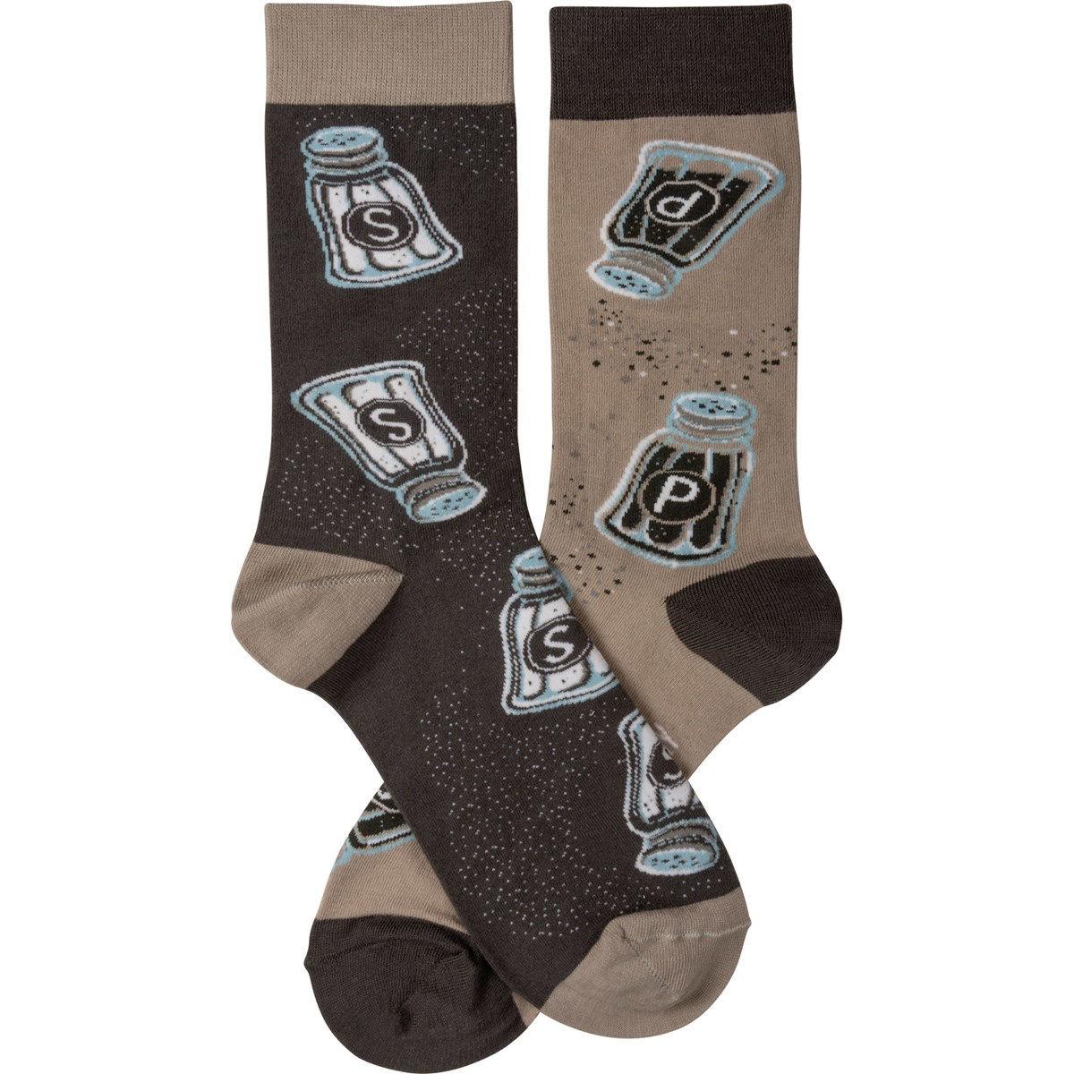 Salt & Pepper Socks by Primitives by Kathy