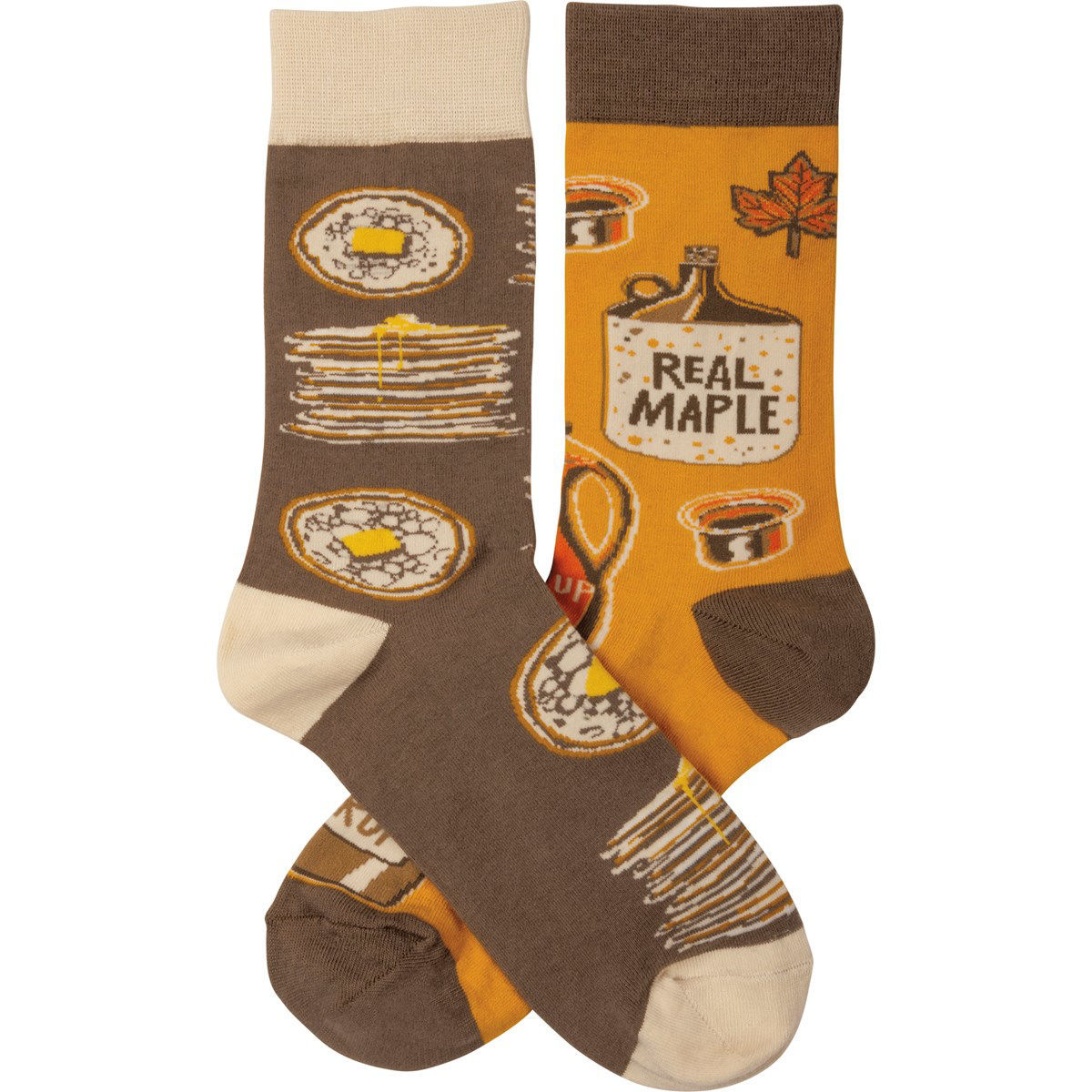 Pancakes & Syrup Socks by Primitives by Kathy