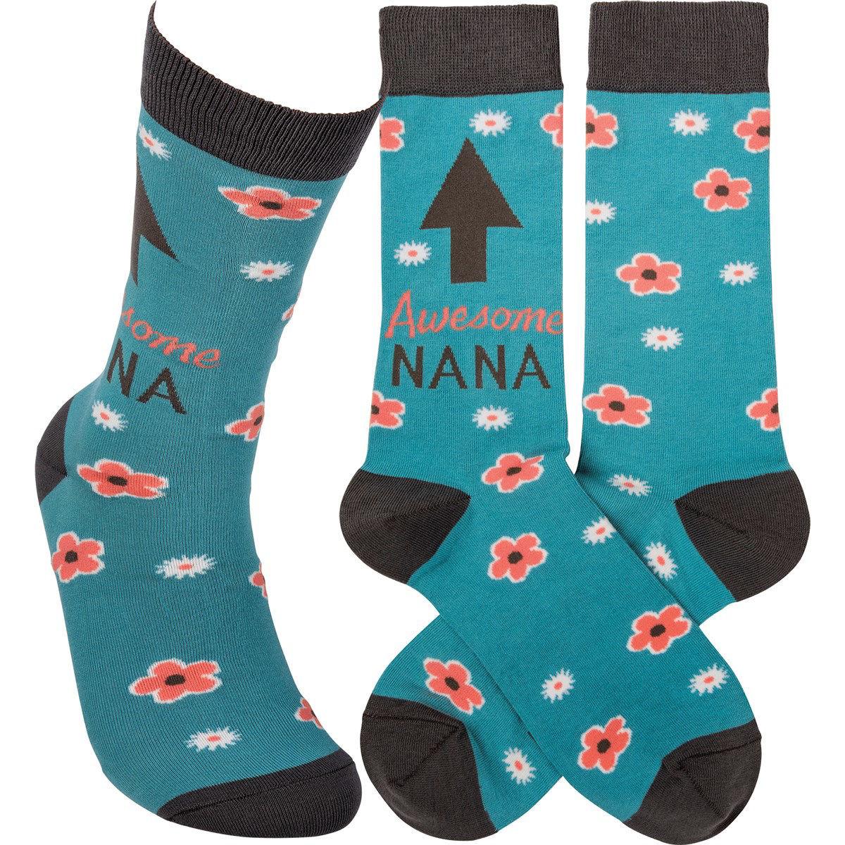 Awesome Nana Socks by Primitives by Kathy