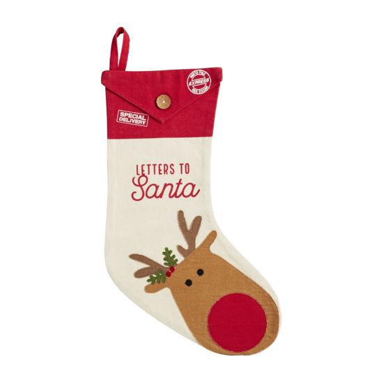 Reindeer Letters to Santa Stocking by Mudpie
