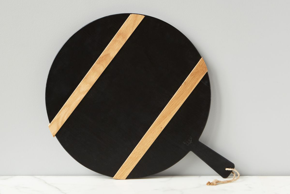 Black Round Mod Charcuterie Board, Medium  by etúHOME