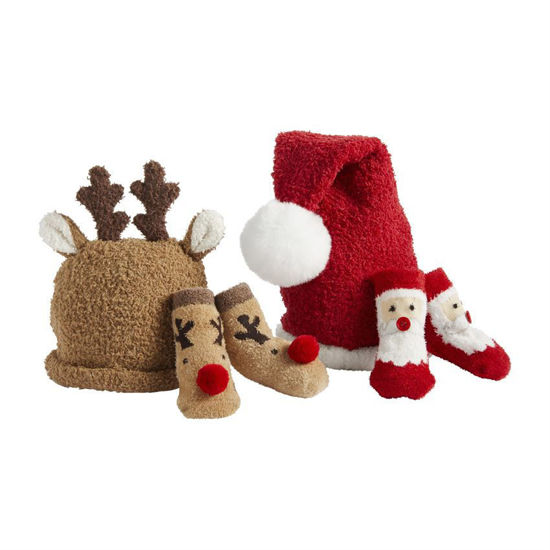 Christmas Sock and Hat Set (Assorted) by Mudpie