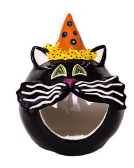 Cat Hat Candy Bowl by Blue Sky Clayworks