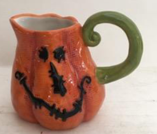 Stitched Pumpkin Creamer by Blue Sky Clayworks