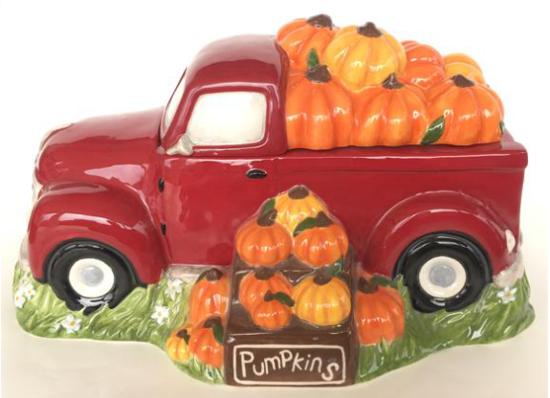 Harvest Truck Red Cookie Jar by Blue Sky Clayworks