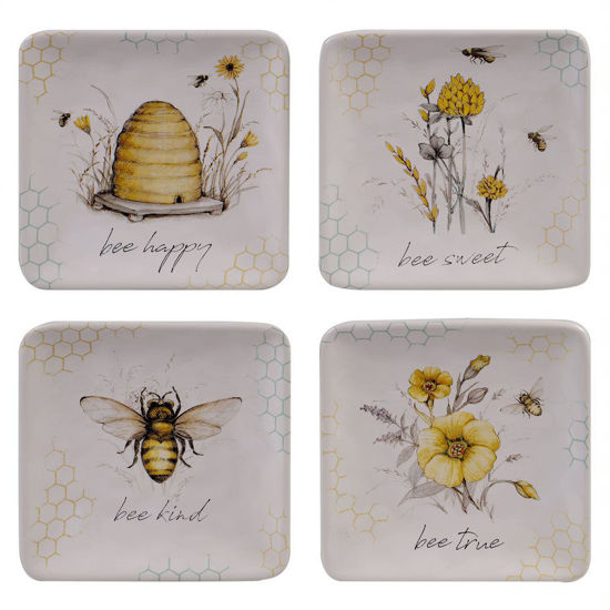 Bee Sweet Canape Plate Set by Certified International
