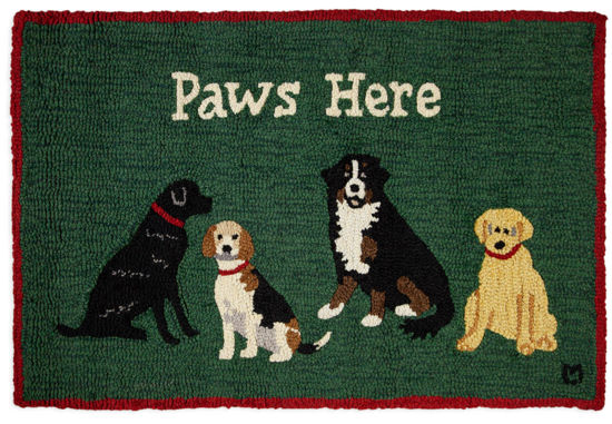 Paws Here 2' x 3' Rug by Chandler 4 Corners