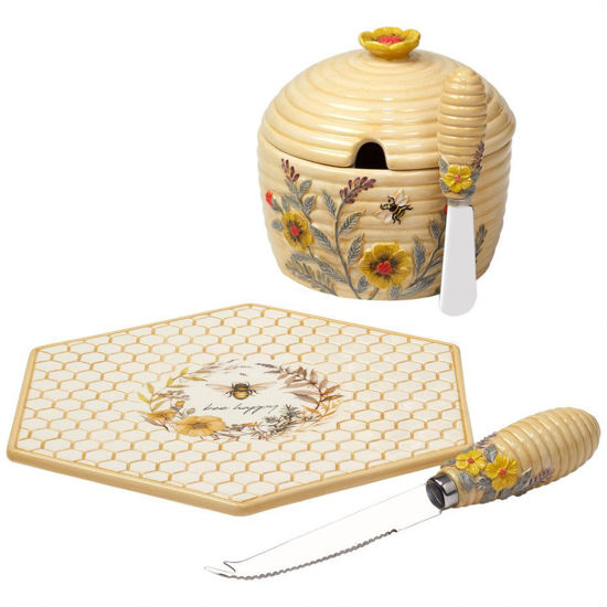 Sweet as a Bee 3-D Cheese Plate & Dip Bowl Set by Certified International