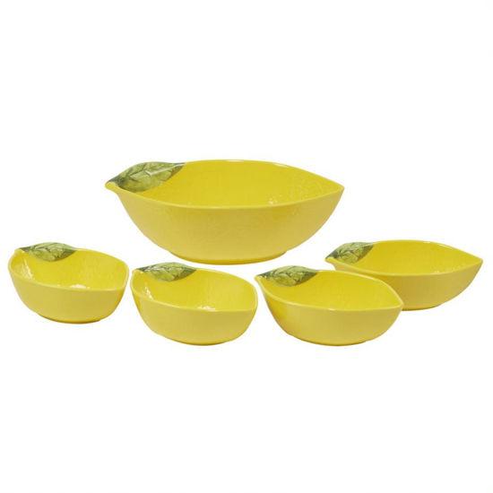 Lemon Zest Melamine 3-D Lemon Serving Bowl Set by Certified International