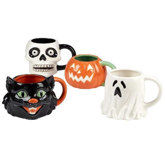Scaredy Cat 3-D Mug Set by Certified International