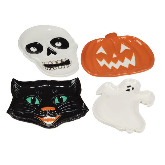 Scaredy Cat 3-D Candy Plate Set by Certified International
