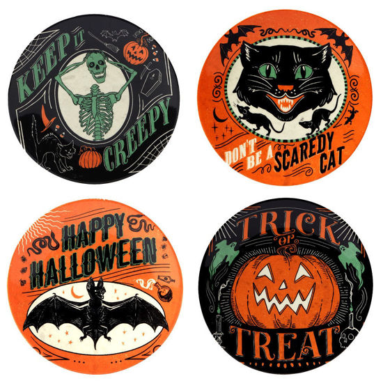 Scaredy Cat Canape Plate Set by Certified International