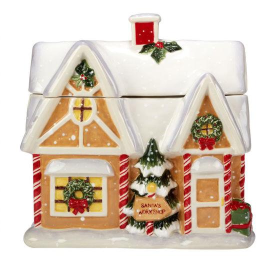 Santa's Workshop 3-D Cookie Jar by Certified International