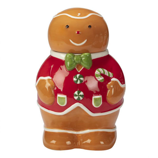 Holiday Magic Gingerbread 3-D Cookie Jar by Certified International
