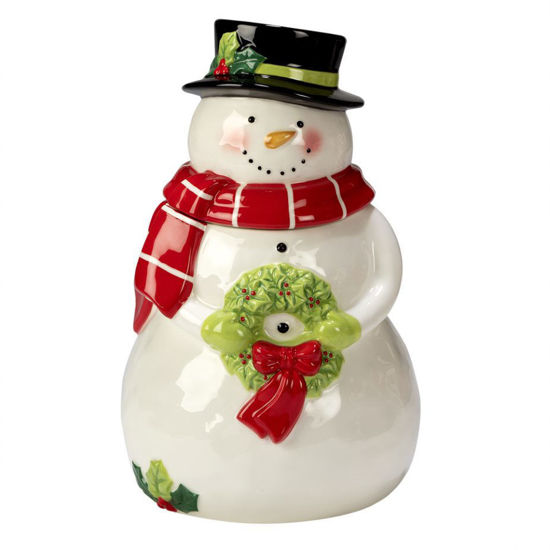 Holiday Magic Snowman  3-D Cookie Jar by Certified International