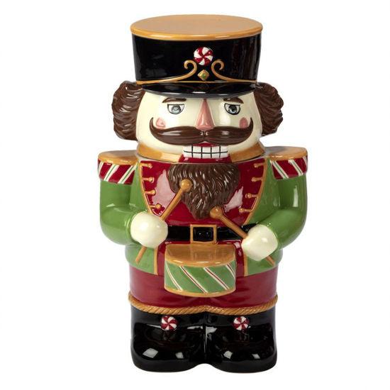 Holiday Magic Nutcracker 3-D Cookie Jar by Certified International