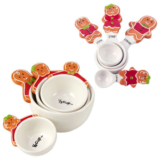 Holiday Magic Gingerbread 3-D Measuring Spoon & Cup Set by Certified International