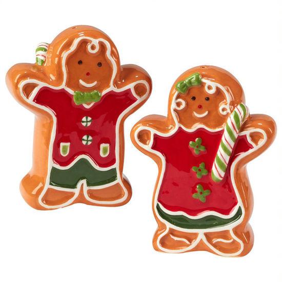 Holiday Magic Gingerbread 3-D Salt & Pepper Set by Certified International