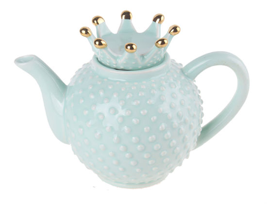 Green Crown Teapot by Blue Sky Clayworks