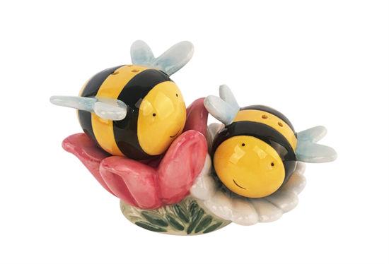 Bumblebee & Flower Salt & Pepper Set by Blue Sky Clayworks