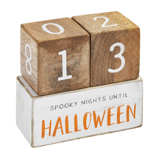 Halloween Countdown Blocks by Mudpie
