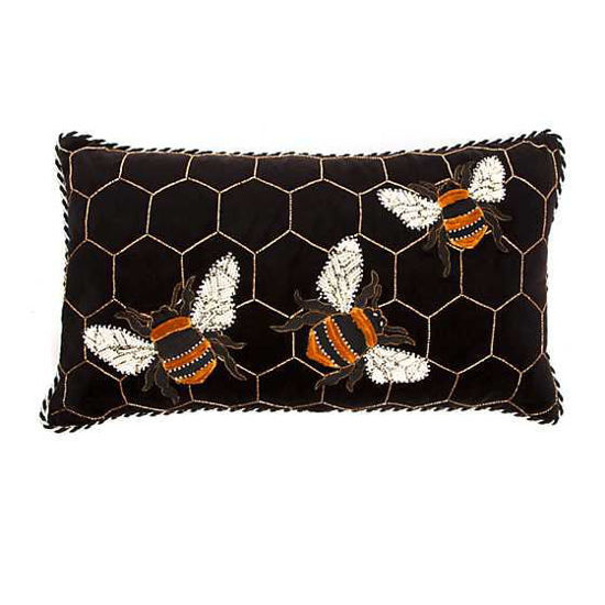 Bumble Bee Lumbar Pillow by MacKenzie-Childs