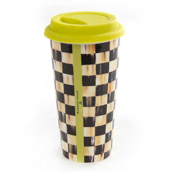 Courtly Check Travel Cup by MacKenzie-Childs