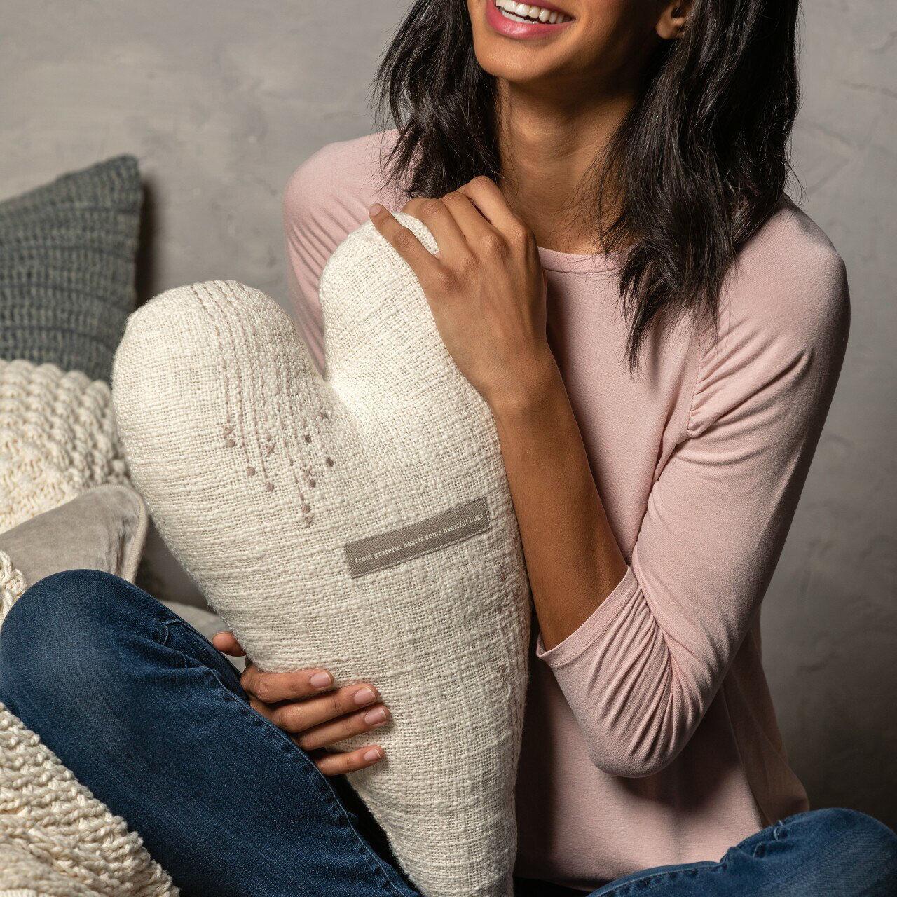 Grateful Heart Pillow by Demdaco