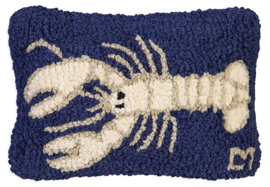 White Lobster on Navy by Chandler 4 Corners