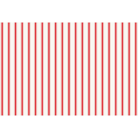 Red Ribbon Stripe Placemat by Hester & Cook