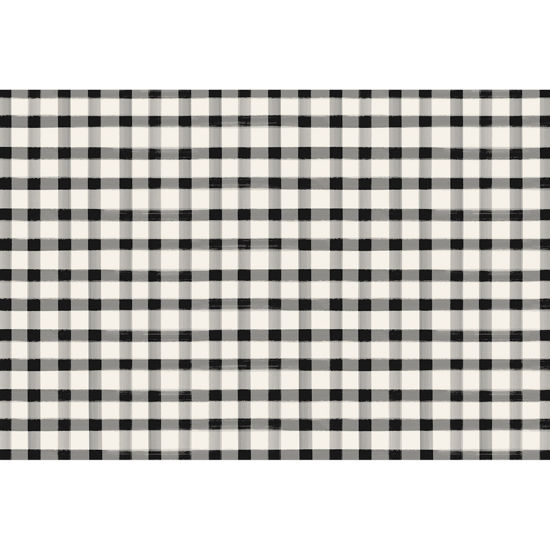 Black Painted Check Placemat by Hester & Cook