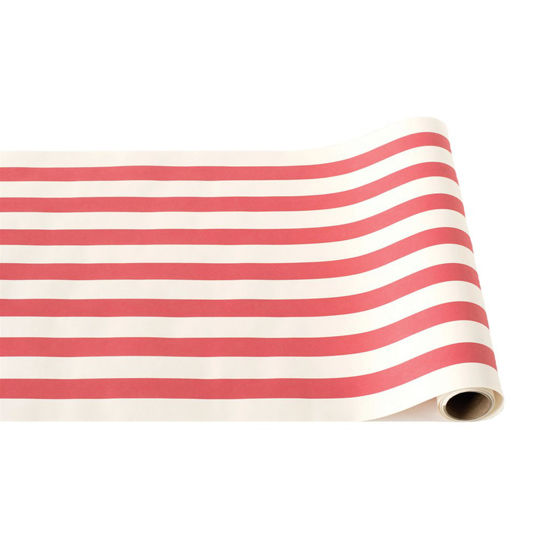 Red Classic Stripe Runner by Hester & Cook