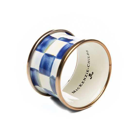 Royal Check Enamel Napkin Rings Holder by MacKenzie-Childs