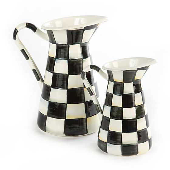 Courtly Check Enamel Practical Pitcher - Small by MacKenzie-Childs