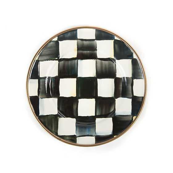 Courtly Check Enamel Canape Plates - Set of 4 by MacKenzie-Childs
