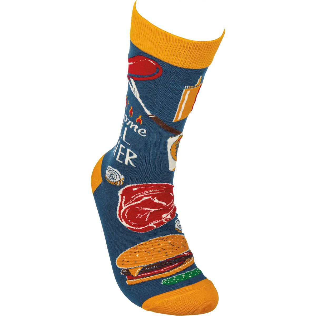 Awesome Grill Master Socks by Primitives by Kathy