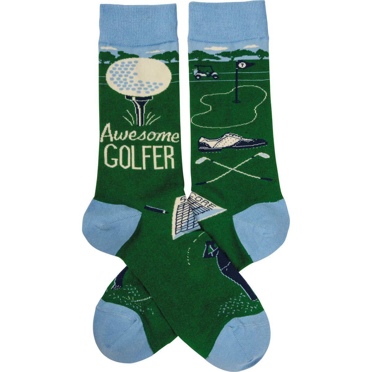 Awesome Golfer Socks by Primitives by Kathy