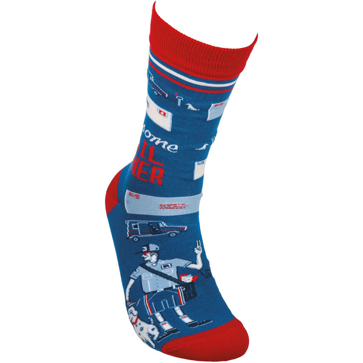 Awesome Mail Carrier Socks by Primitives by Kathy