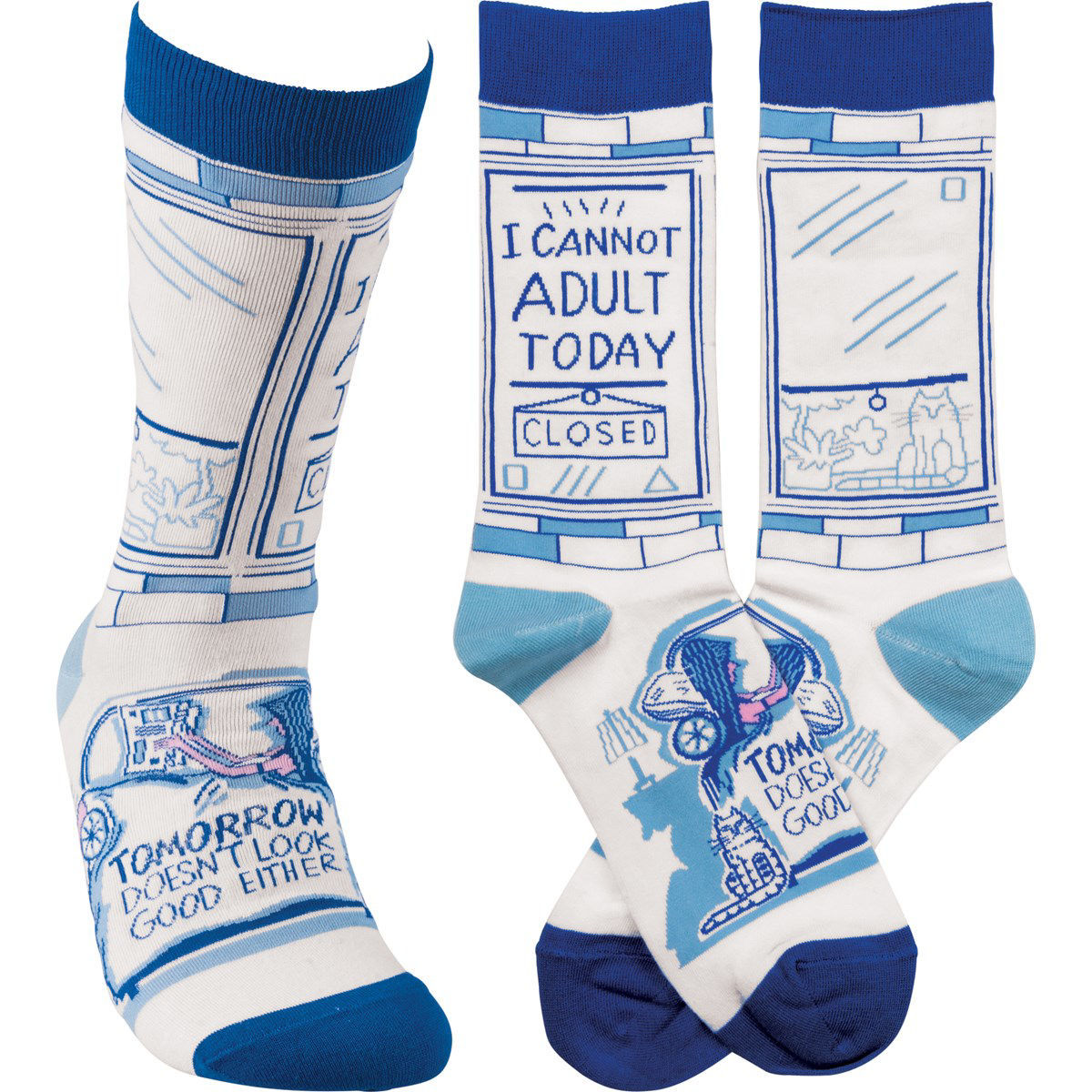 I Cannot Adult Today Socks by Primitives by Kathy