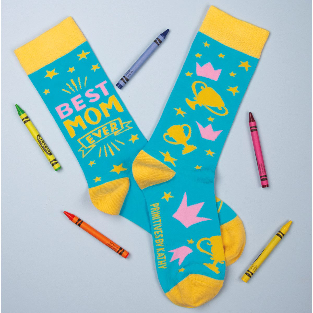 Best Mom Ever Socks by Primitives by Kathy