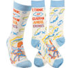 I Think My Guardian Angel Drinks Socks by Primitives by Kathy