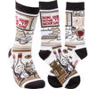 Bring Your Wine To Work Day Socks by Primitives by Kathy