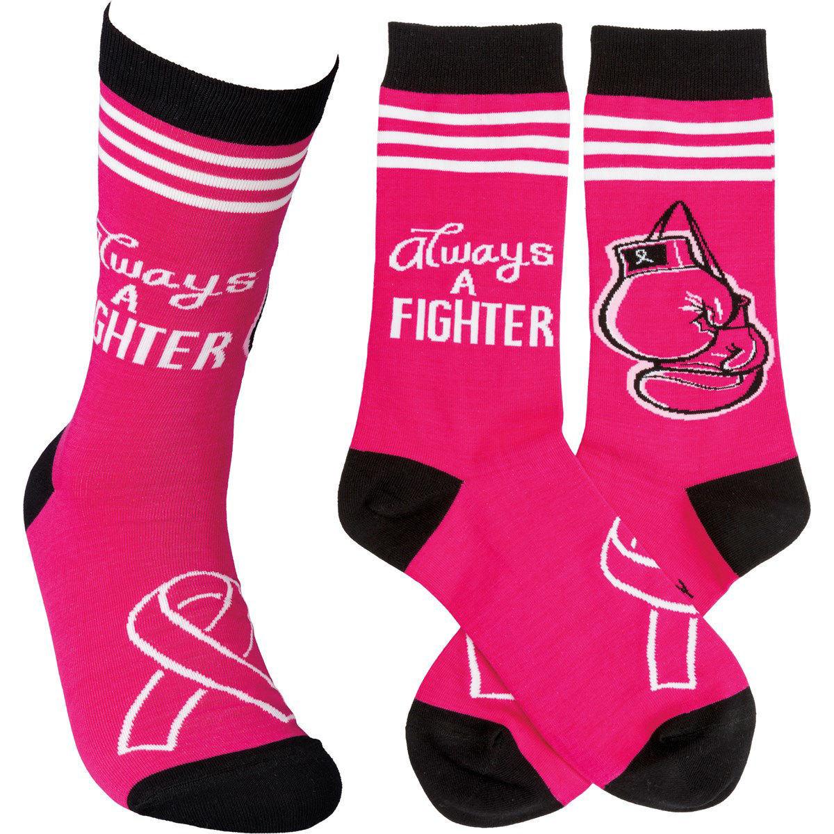 Always A Fighter Socks by Primitives by Kathy