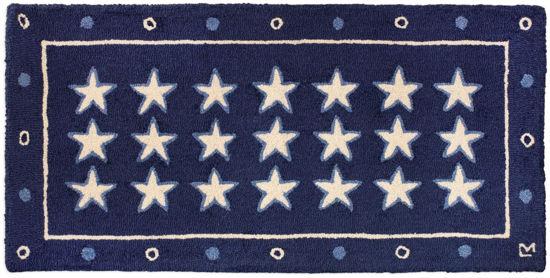 Stars on Blue 2' x 4' Rug by Chandler 4 Corners