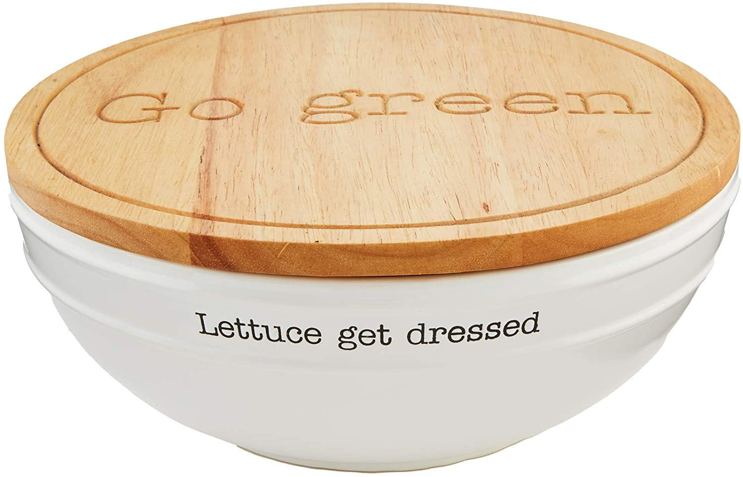 Circa Salad Bowl with Lid by Mudpie