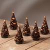 Magic Halloween Glitter Mini Trees (Set of 6) by Bethany Lowe Designs