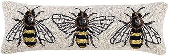 Bee Lumbar Pillow by Peking Handicraft