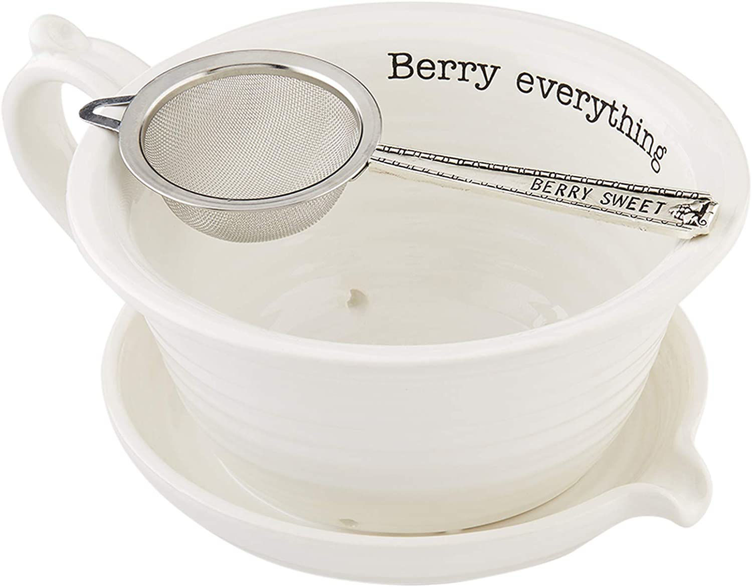 Circa Berry Strainer by Mudpie
