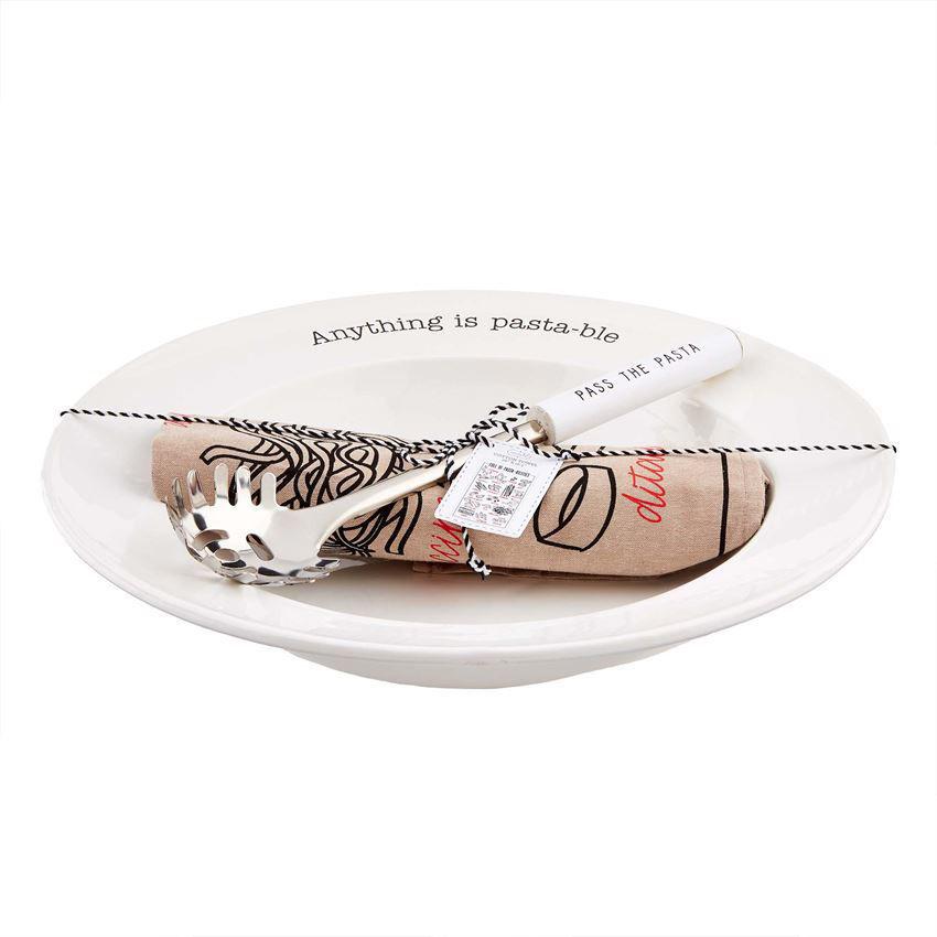 Pasta Bowl & Towel Set by Mudpie